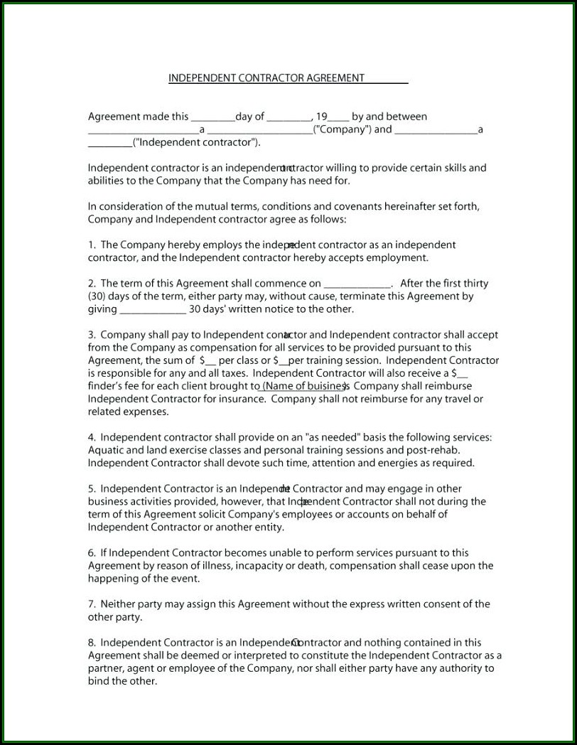Counselling Client Contract Template