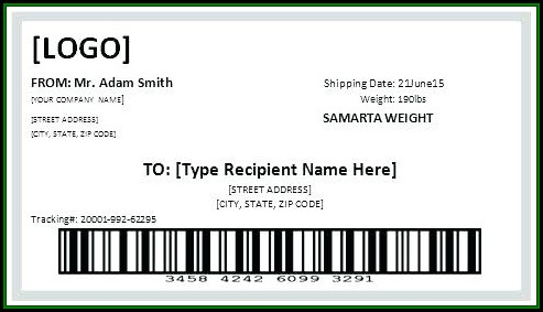 Cute Shipping Label Template Free
