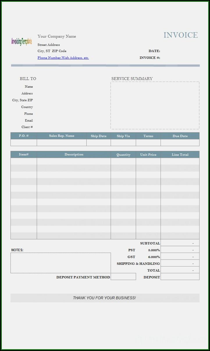 Deposit Invoice Form