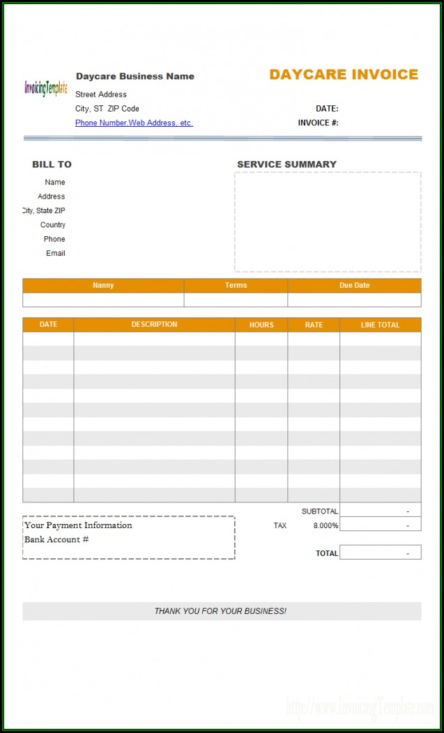 Direct Deposit Invoice Template