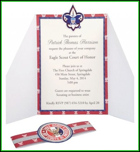 Boy Scout Eagle Invitation Template