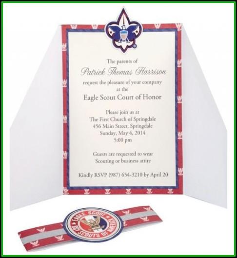 Boy Scout Eagle Invitation Template