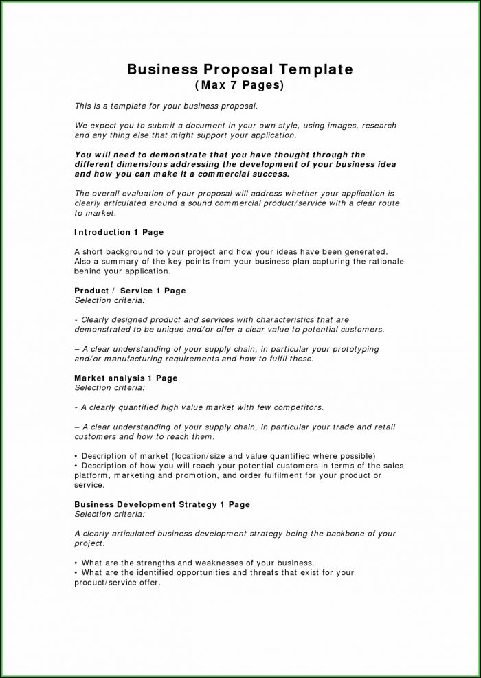 Business Proposal Template Pdf