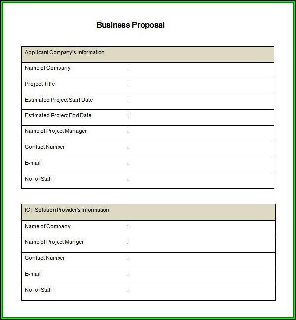 Business Proposal Template Pdf Free