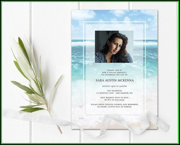Celebration Of Life Template Announcement