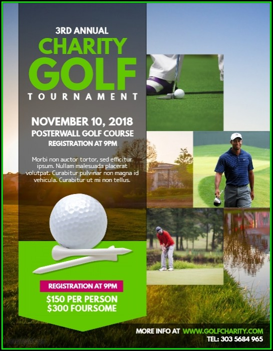 Charity Golf Tournament Flyer Template