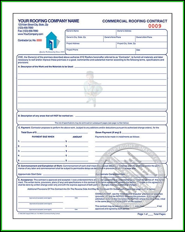 Commercial Roofing Contract Template