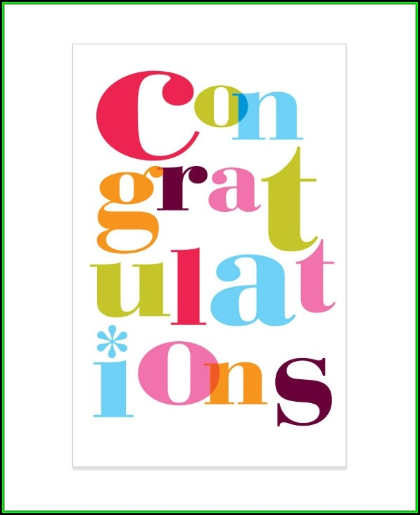 Congratulations Card Template Free