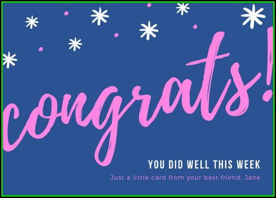 Congratulations Card Templates