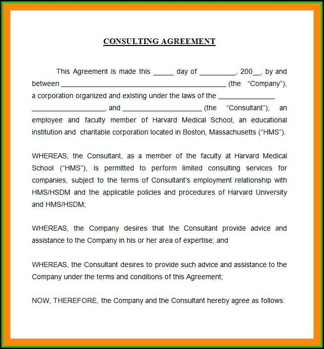 Consulting Agreement Template Short Free