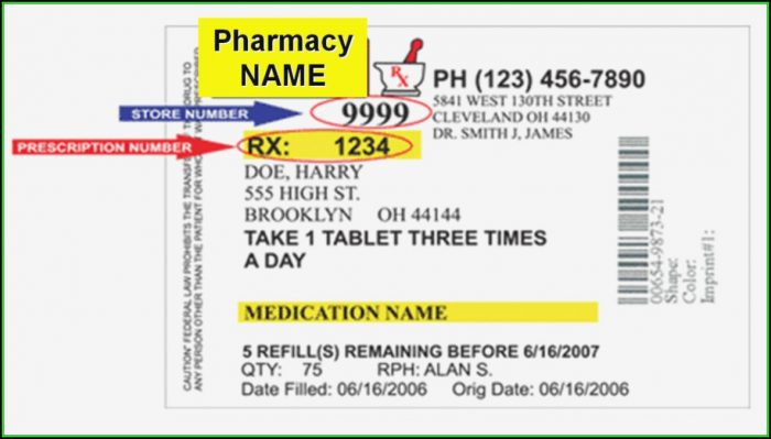 Cvs Prescription Bottle Label Template