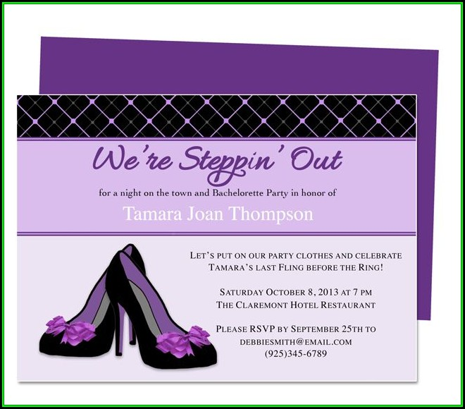 Diy Bachelorette Party Invitation Templates