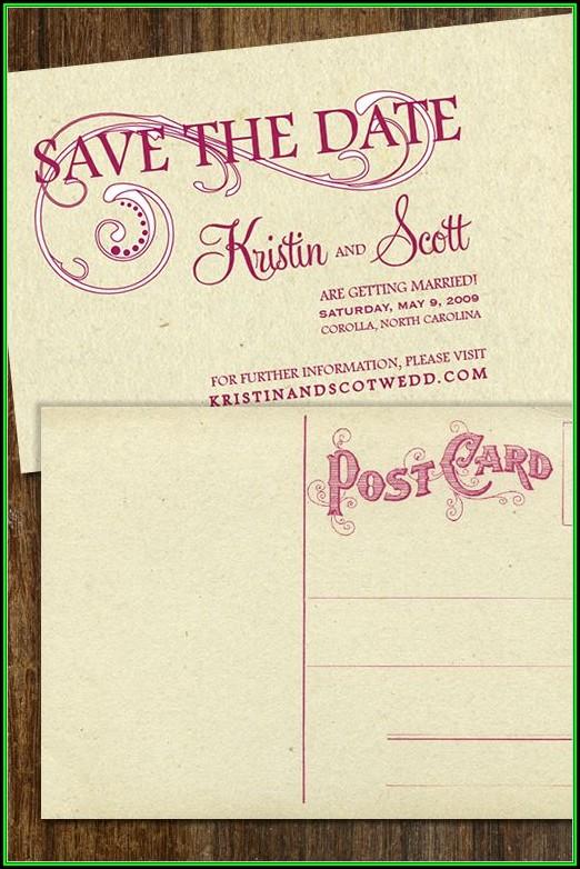 Diy Save The Date Postcard Templates Free