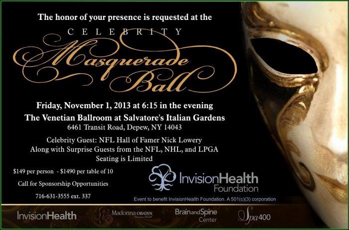 Elegant Masquerade Invitation Template