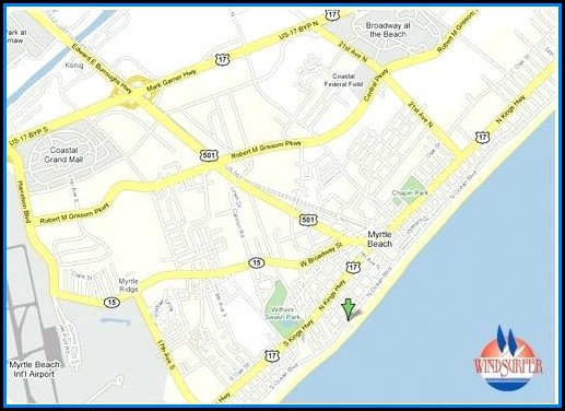 Google Map Of Myrtle Beach Hotels