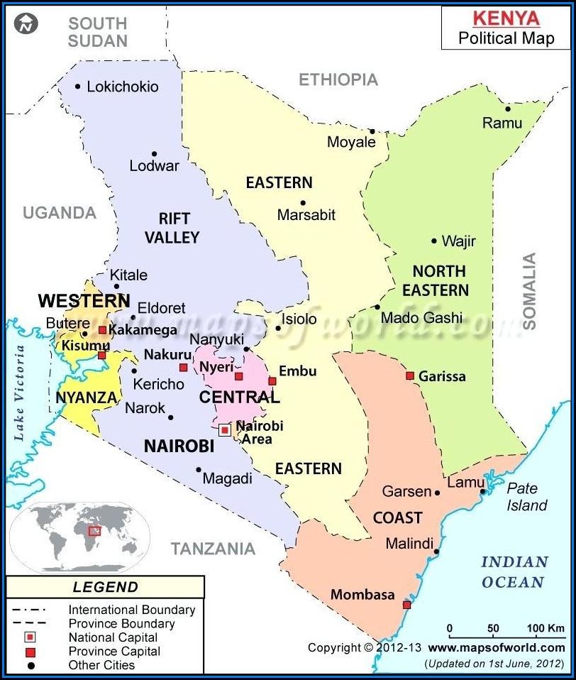 Google Road Maps Kenya