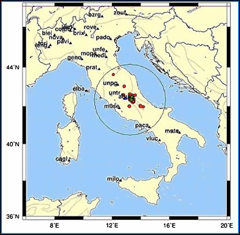 Gps Map Of Italy