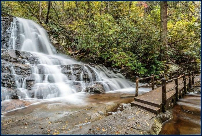 Great Smoky Mountains National Park Map Waterfalls