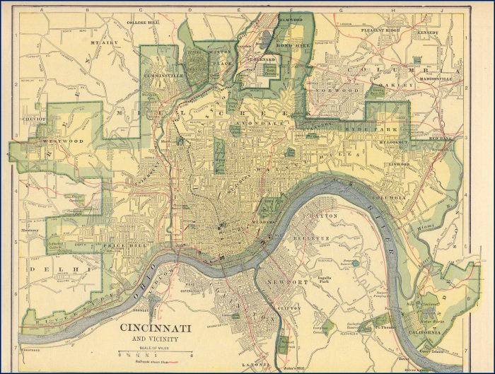 Historic Maps Of Cincinnati Ohio