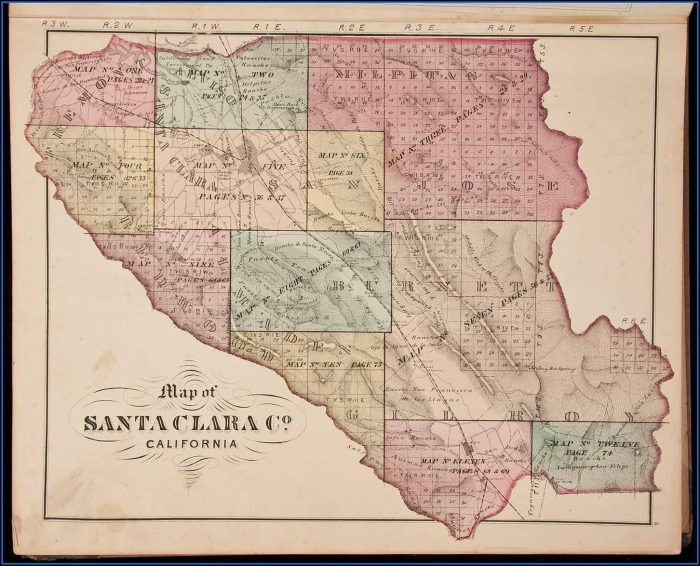 Historical Atlas Map Of Santa Clara County California