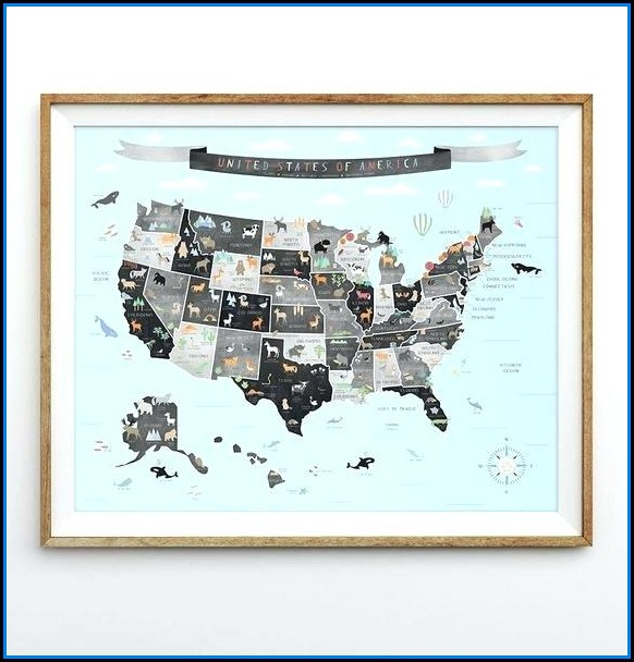 Hobby Lobby Map Wall Art