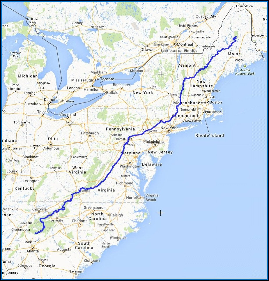 Interactive Map Of The Appalachian Trail