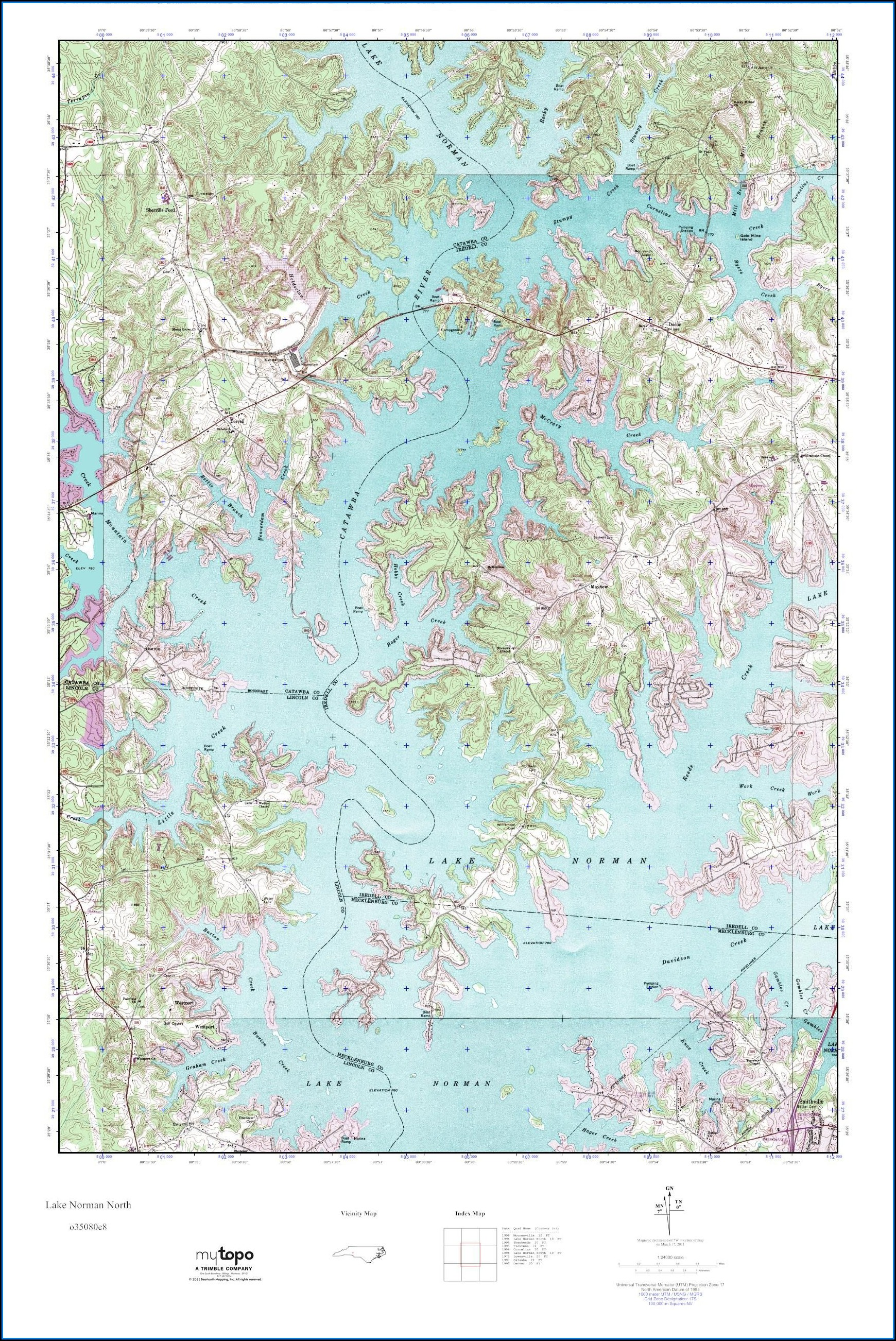 Lake Norman Nautical Map