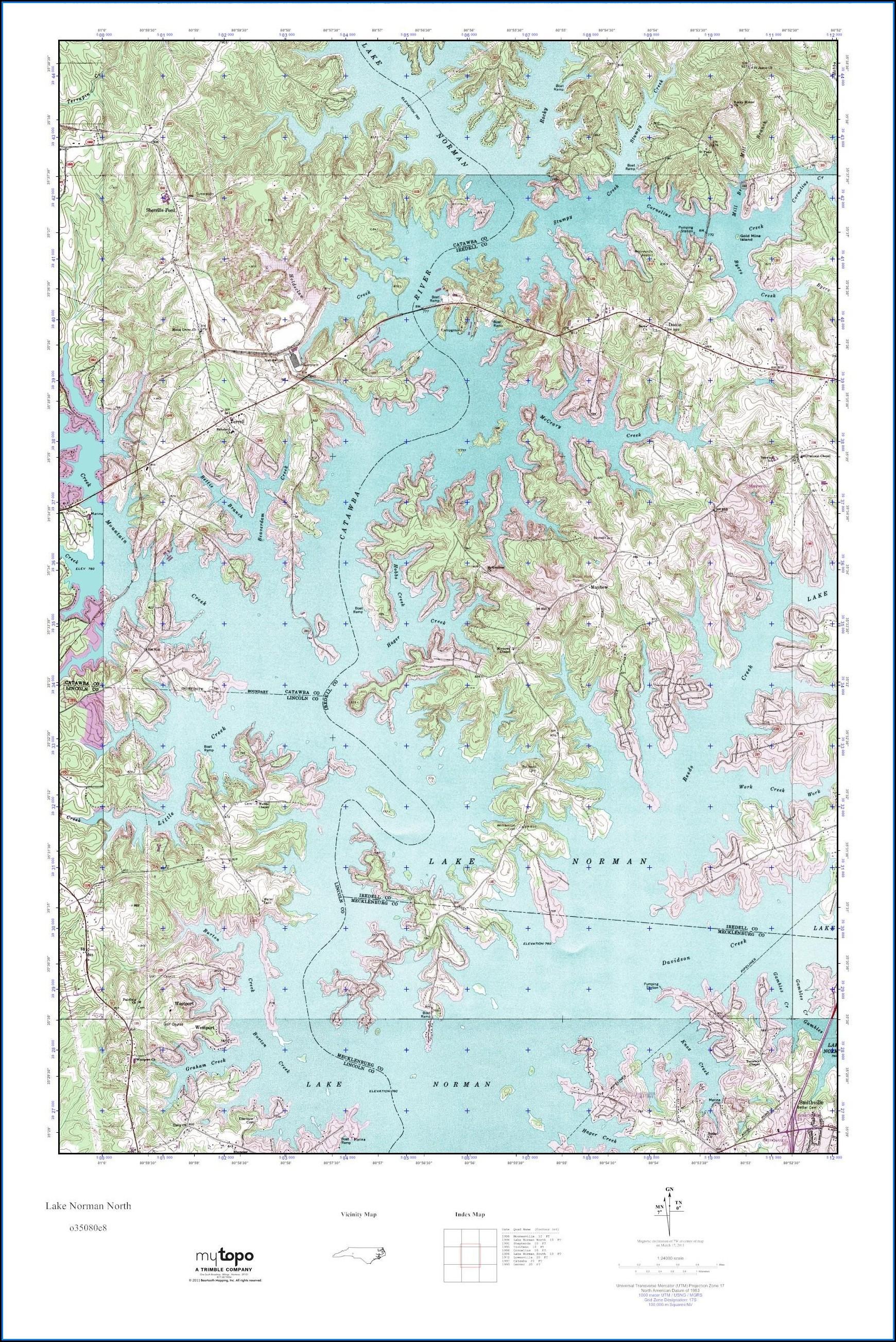 Lake Norman Nautical Map
