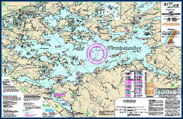 Lake Winnipesaukee Depth Map