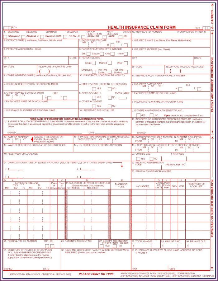 Cms Form 1500 Free