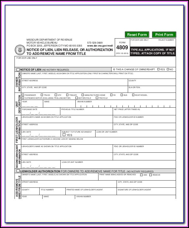 Conditional Lien Waiver Form Missouri
