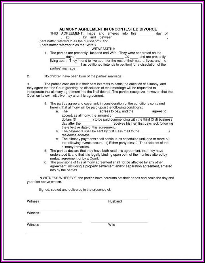 Contested Divorce Forms In Texas