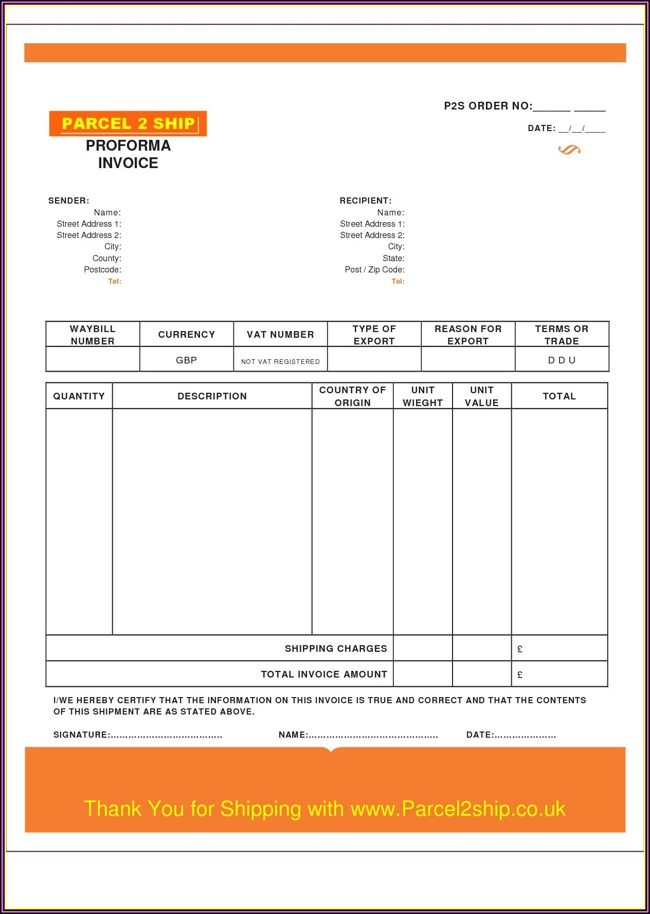 Contractor Invoice Template Uk