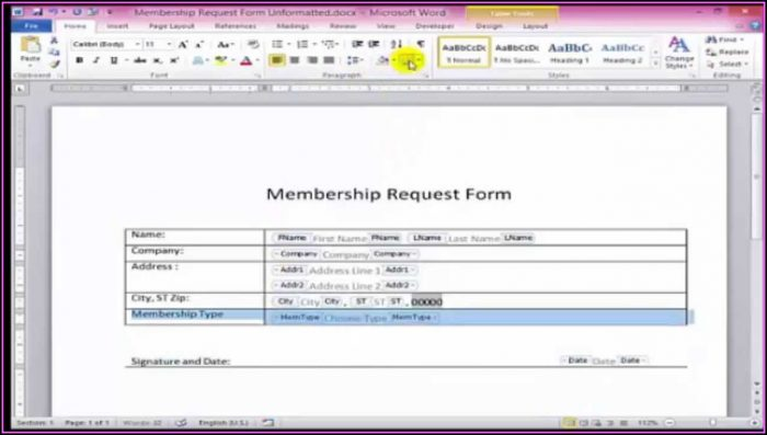 Create Fillable Forms In Word