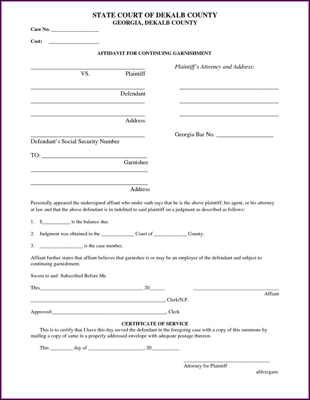 Dekalb County Divorce Forms