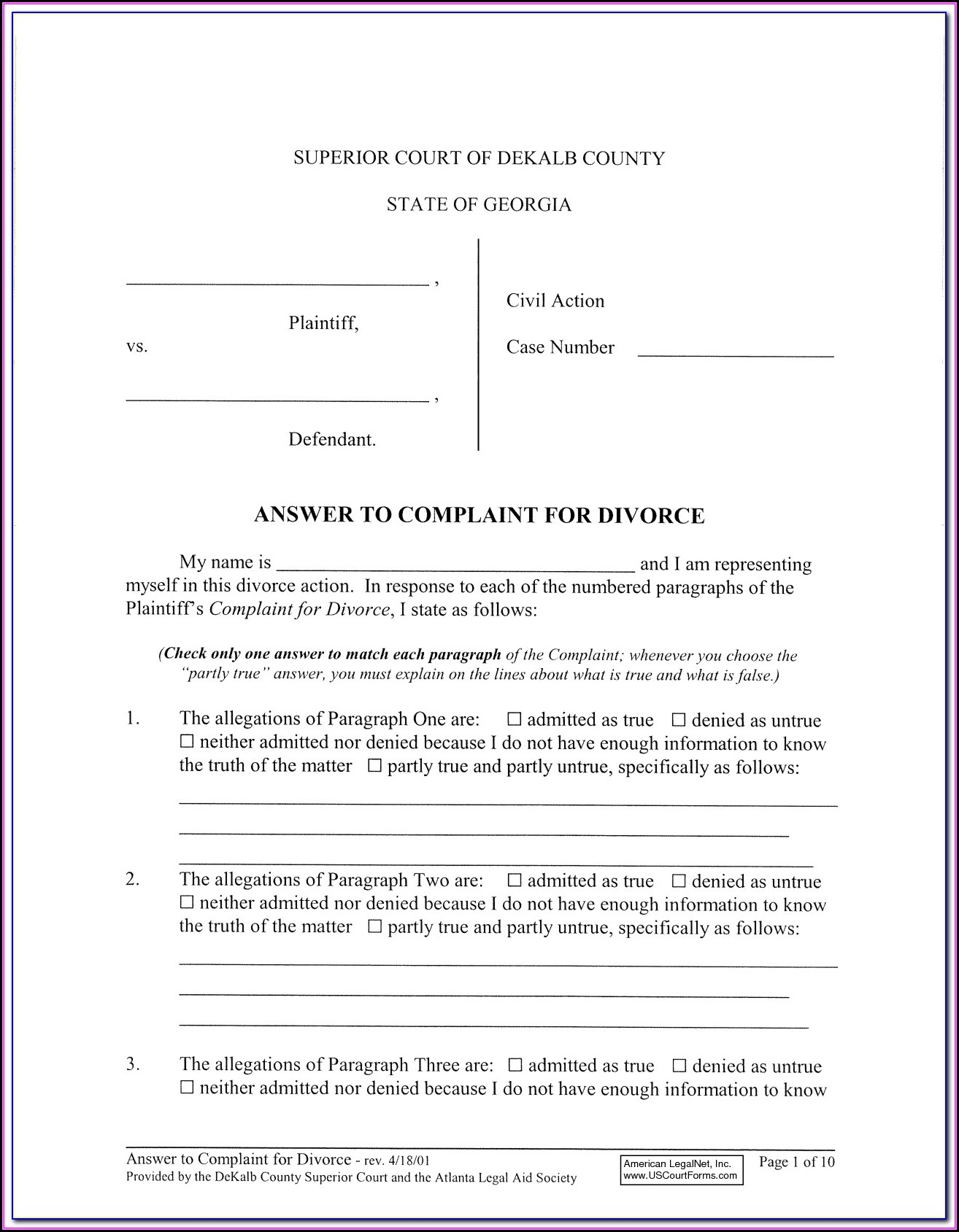 Dekalb County Probate Court Forms
