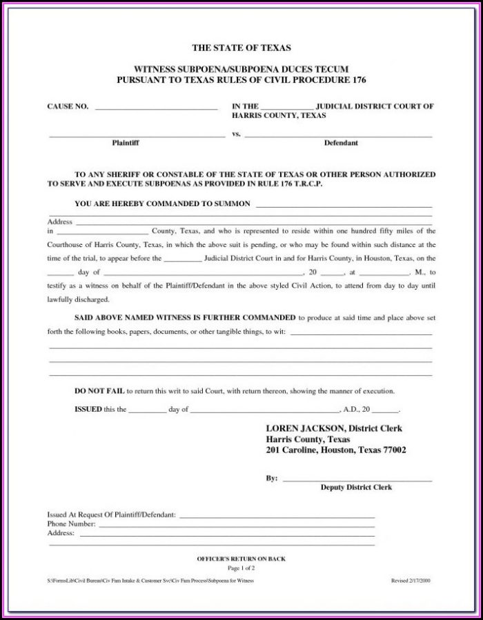 Divorce Forms In Houston Texas