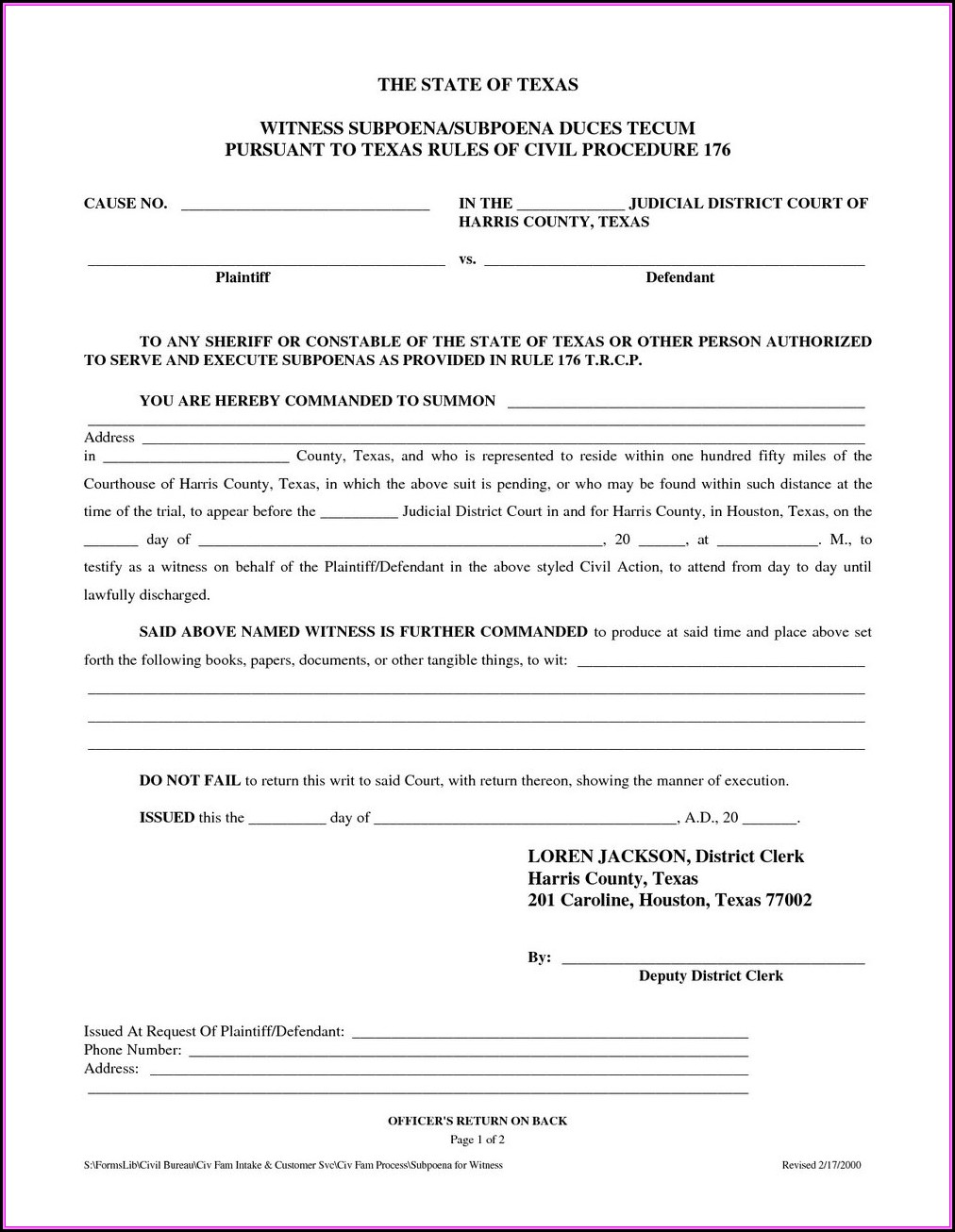Divorce Forms In Texas Free
