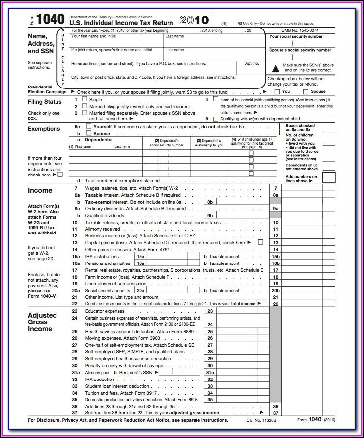 Federal Income Tax Forms 1040ez Instructions