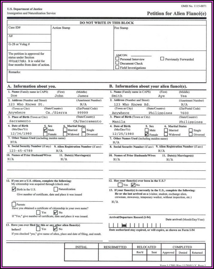 Fiance Visa Application Form Uk