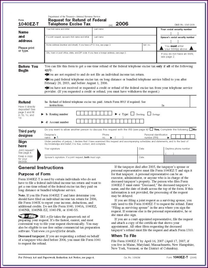 Fillable 1040 Form