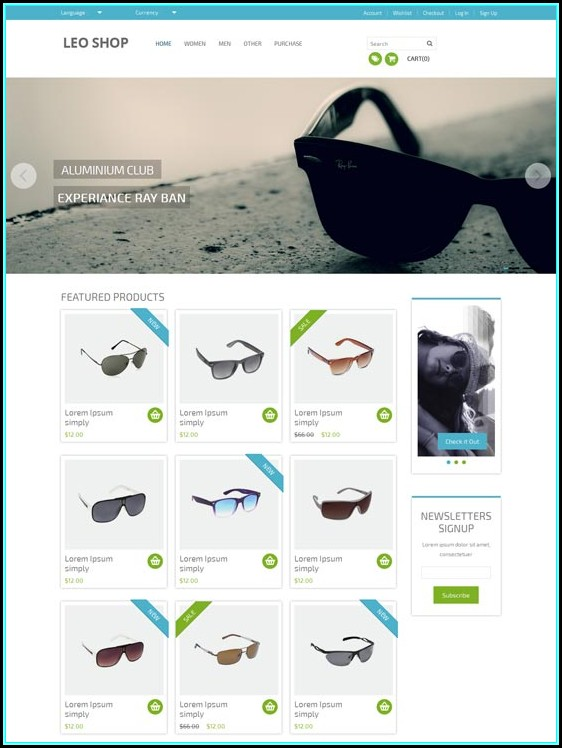 Dreamweaver Ecommerce Templates Free