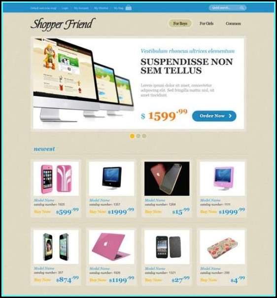 Dreamweaver Ecommerce Website Templates Free