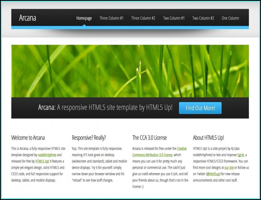Dreamweaver Web Templates Free Download