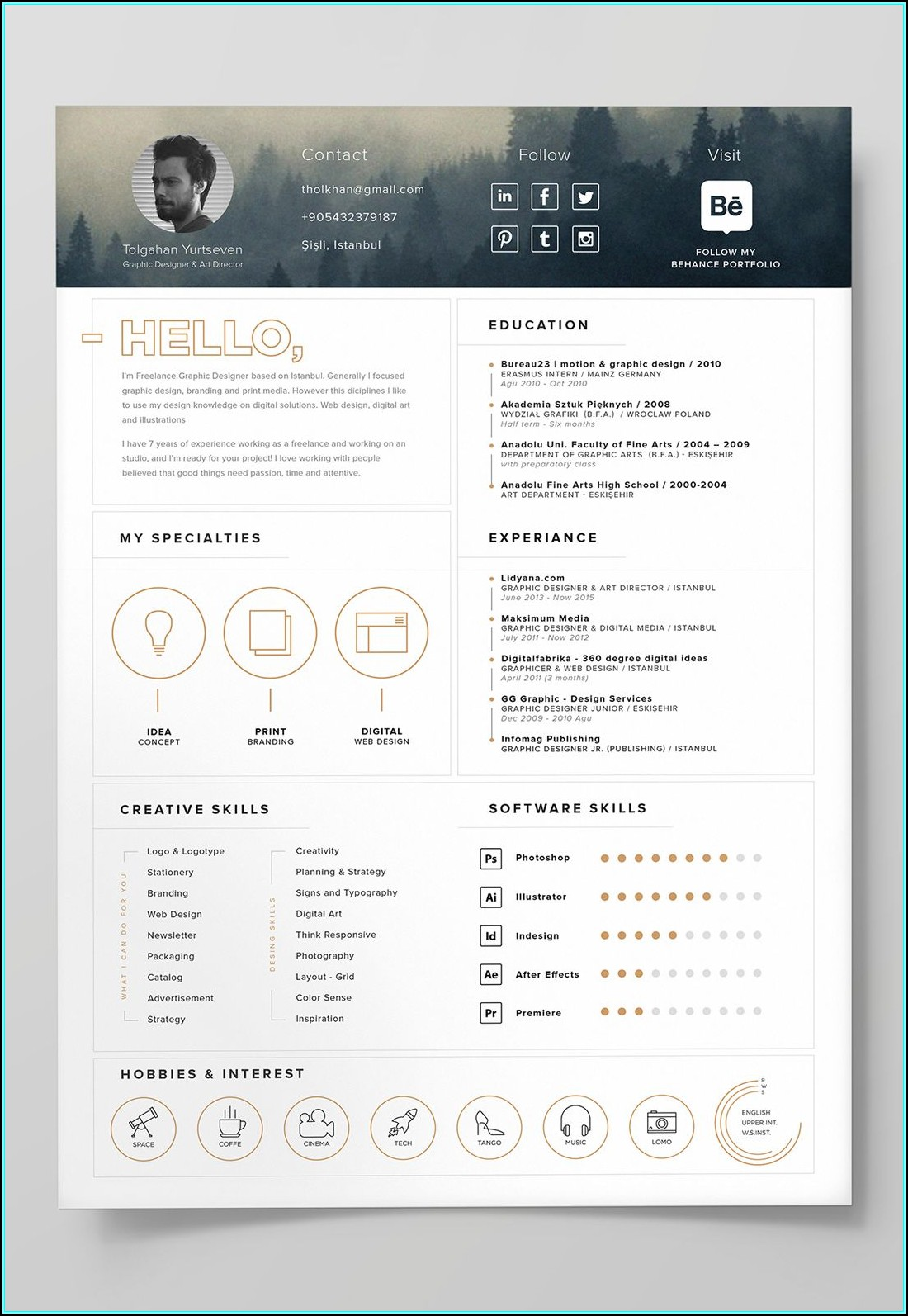 Editable Cv Templates Free Download Photoshop