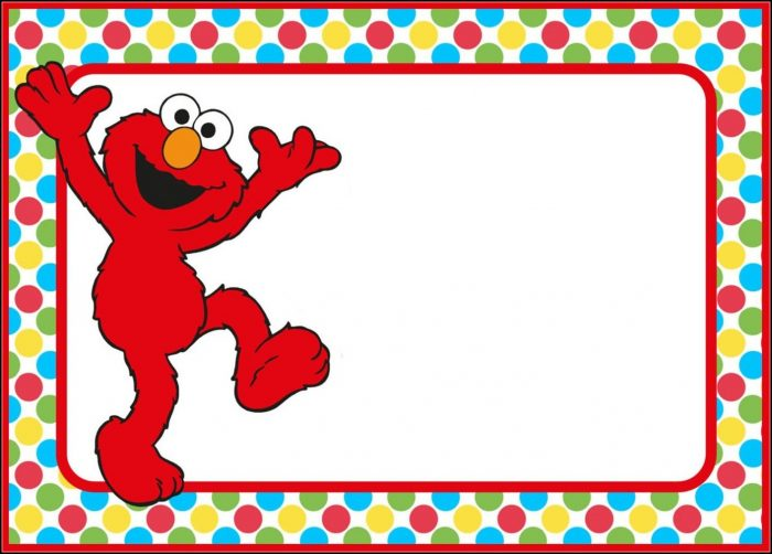 Elmo Invitation Template