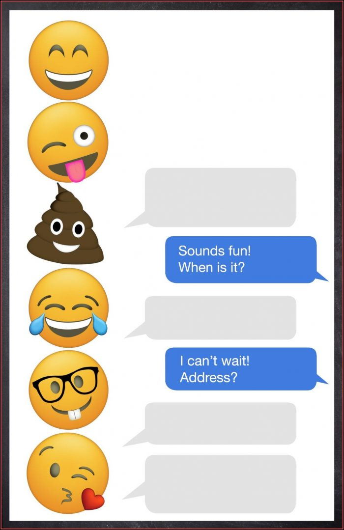 Emoji Birthday Invitations Template Free