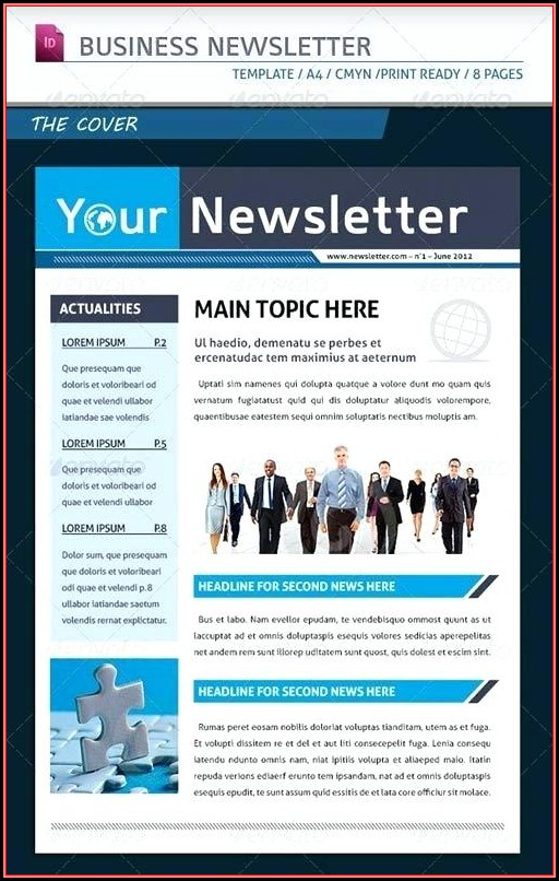 Employee Newsletter Template Indesign