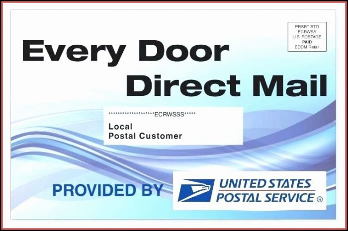 Every Door Direct Mail Template Usps