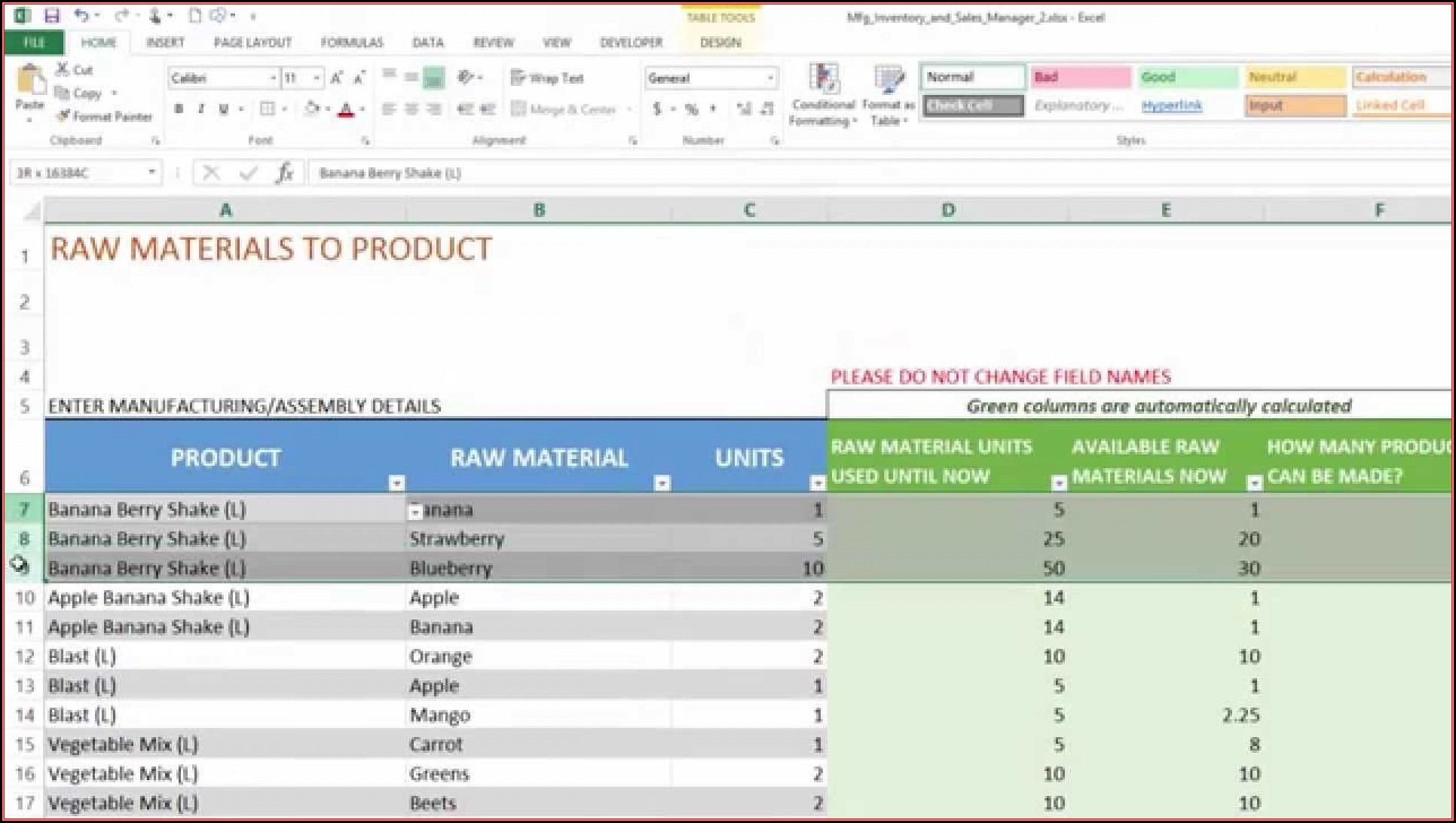 Excel 2007 Inventory Management Template